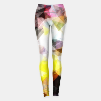 Thumbnail image of geometric triangle pattern abstract background in yellow brown pink Leggings, Live Heroes