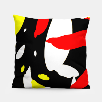 Thumbnail image of Pattern Abstrait Formes Rouge/Noir Coussin, Live Heroes