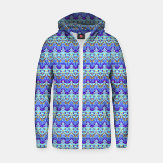 Thumbnail image of Colorful Asian Style Pattern Zip up hoodie, Live Heroes