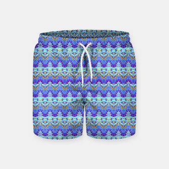 Colorful Asian Style Pattern Swim Shorts obraz miniatury