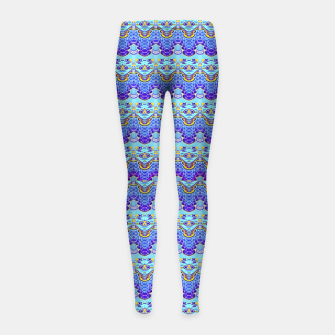 Colorful Asian Style Pattern Girl's leggings obraz miniatury