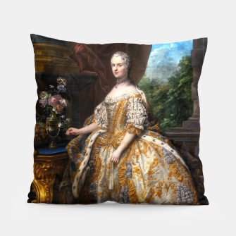 Thumbnail image of Marie Leszczinska, Reine de France by Charles-André van Loo Pillow, Live Heroes
