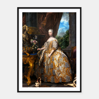 Thumbnail image of Marie Leszczinska, Reine de France by Charles-André van Loo Framed poster, Live Heroes