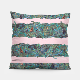 Thumbnail image of Living Jungle Stripes Pillow, Live Heroes