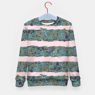Thumbnail image of Living Jungle Stripes Kid's sweater, Live Heroes