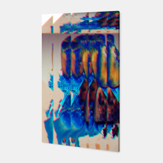 Thumbnail image of Colored Ice Abstract Canvas, Live Heroes