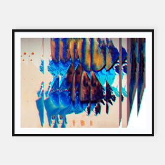 Thumbnail image of Colored Ice Abstract Plakat mit rahmen, Live Heroes