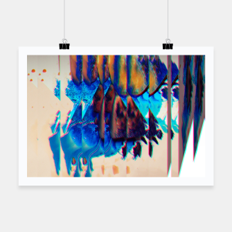 Thumbnail image of Colored Ice Abstract Plakat, Live Heroes