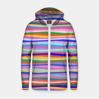 Thumbnail image of Vibrant stripes  Zip up hoodie, Live Heroes
