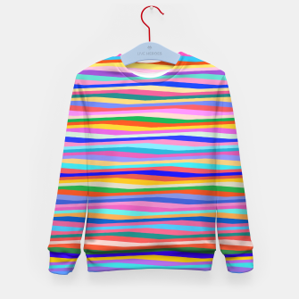 Thumbnail image of Vibrant stripes  Kid's sweater, Live Heroes
