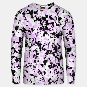 Miniatur Black Pink and White Abstract  Unisex sweater, Live Heroes