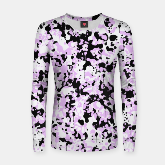 Miniatur Black Pink and White Abstract  Women sweater, Live Heroes