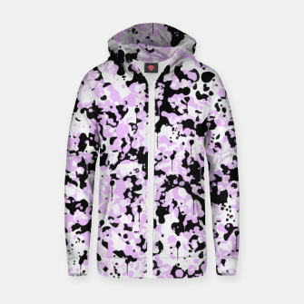 Miniatur Black Pink and White Abstract  Zip up hoodie, Live Heroes