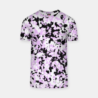 Miniatur Black Pink and White Abstract  T-shirt, Live Heroes