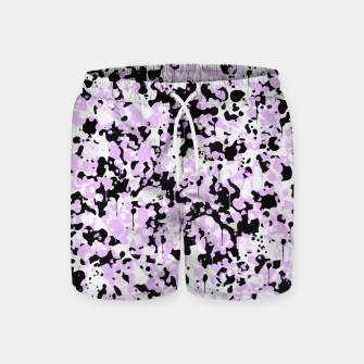 Miniatur Black Pink and White Abstract  Swim Shorts, Live Heroes