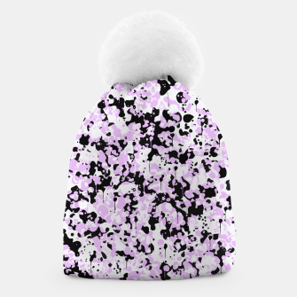 Miniatur Black Pink and White Abstract  Beanie, Live Heroes