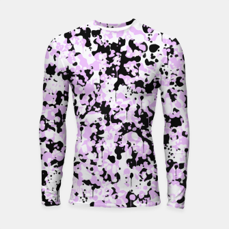 Miniatur Black Pink and White Abstract  Longsleeve rashguard , Live Heroes