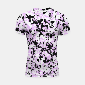 Thumbnail image of Black Pink and White Abstract  Shortsleeve rashguard, Live Heroes