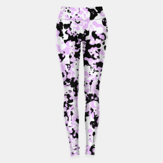 Miniatur Black Pink and White Abstract  Leggings, Live Heroes
