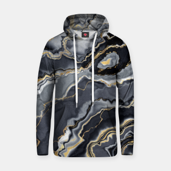 Thumbnail image of Shades of grey and gold marbled Hoodie, Live Heroes