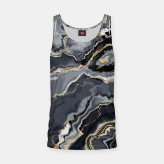 Thumbnail image of Shades of grey and gold marbled Tank Top, Live Heroes