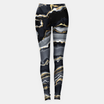 Thumbnail image of Shades of grey and gold marbled Leggings, Live Heroes