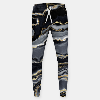 Thumbnail image of Shades of grey and gold marbled Sweatpants, Live Heroes