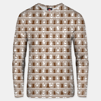 Miniatur Brown and White Abstract  Unisex sweater, Live Heroes