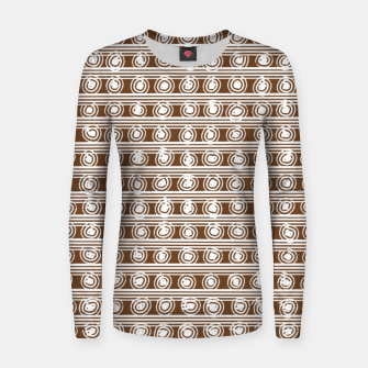 Miniatur Brown and White Abstract  Women sweater, Live Heroes