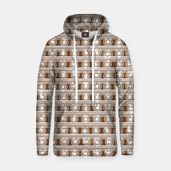 Miniatur Brown and White Abstract  Hoodie, Live Heroes