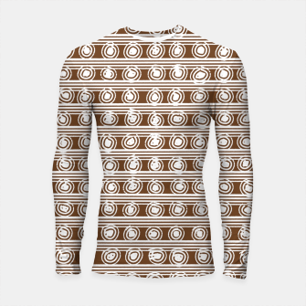 Miniatur Brown and White Abstract  Longsleeve rashguard , Live Heroes