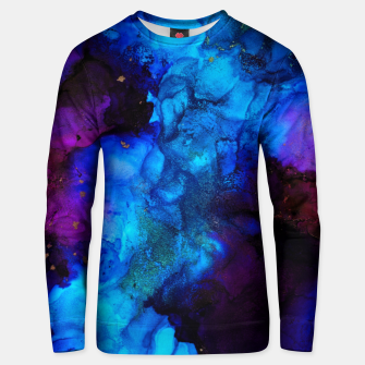 Thumbnail image of The Sorcerer's Shore - Blue + Purple Abstract Unisex sweater, Live Heroes