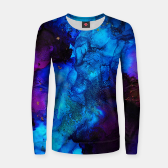 Thumbnail image of The Sorcerer's Shore - Blue + Purple Abstract Women sweater, Live Heroes