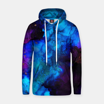Thumbnail image of The Sorcerer's Shore - Blue + Purple Abstract Hoodie, Live Heroes