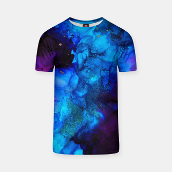 Thumbnail image of The Sorcerer's Shore - Blue + Purple Abstract T-shirt, Live Heroes