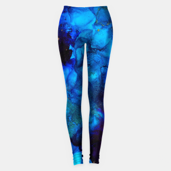 Thumbnail image of The Sorcerer's Shore - Blue + Purple Abstract Leggings, Live Heroes