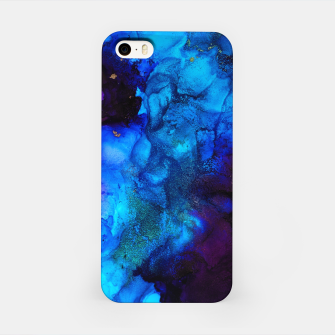 Thumbnail image of The Sorcerer's Shore - Blue + Purple Abstract iPhone Case, Live Heroes