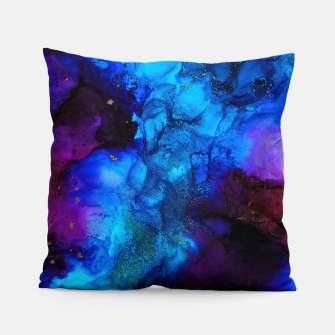 Thumbnail image of The Sorcerer's Shore - Blue + Purple Abstract Pillow, Live Heroes