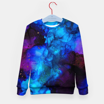 Thumbnail image of The Sorcerer's Shore - Blue + Purple Abstract Kid's sweater, Live Heroes