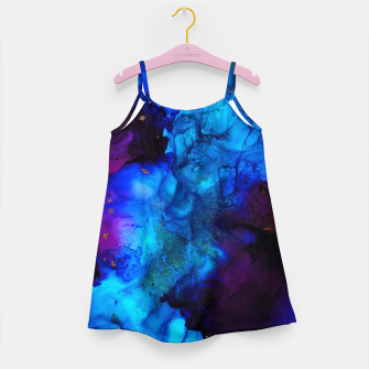 Thumbnail image of The Sorcerer's Shore - Blue + Purple Abstract Girl's dress, Live Heroes