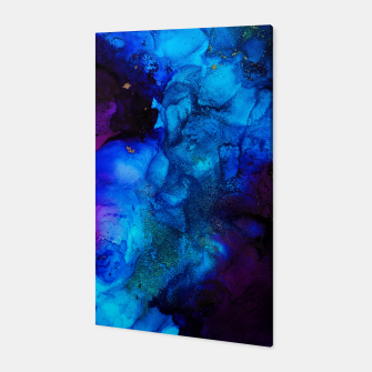Thumbnail image of The Sorcerer's Shore - Blue + Purple Abstract Canvas, Live Heroes