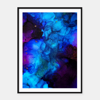 Thumbnail image of The Sorcerer's Shore - Blue + Purple Abstract Framed poster, Live Heroes