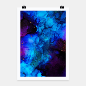 Thumbnail image of The Sorcerer's Shore - Blue + Purple Abstract Poster, Live Heroes