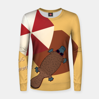 Thumbnail image of PLATYPUS SUMMER Women sweater, Live Heroes