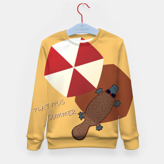 Thumbnail image of PLATYPUS SUMMER Kid's sweater, Live Heroes