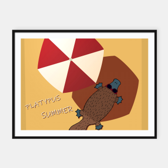 Thumbnail image of PLATYPUS SUMMER Framed poster, Live Heroes