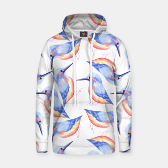 Thumbnail image of Common Kingfisher or Alcedinidae watercolor birds painting Hoodie, Live Heroes