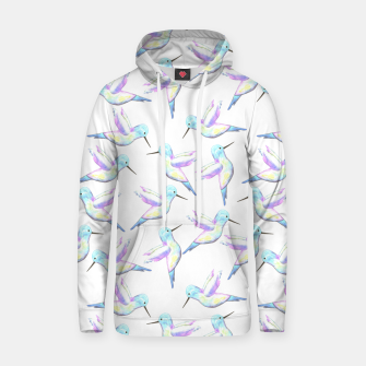 Miniatur A cute Hummingbird with iridescent feathers- watercolor birds painting Hoodie, Live Heroes