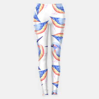 Thumbnail image of Common Kingfisher or Alcedinidae watercolor birds painting Leggings, Live Heroes
