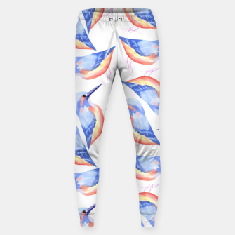Thumbnail image of Common Kingfisher or Alcedinidae watercolor birds painting Sweatpants, Live Heroes
